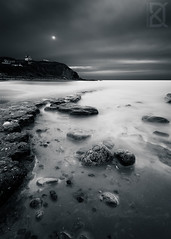 The hidden sun ( David.Keochkerian ) Tags: sunset sea sun seascape david france rock capgrisnez pasdecalais keochkerian