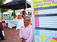 visitor at the Enoch Pratt Free Library booth - Baltimore Book Festival 2013 (bronxbob) Tags: livemusic festivals maryland books baltimore enochprattfreelibrary baltimorebookfestival2013