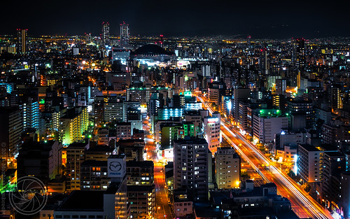 Osaka City nightscape (i)