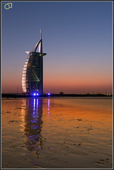Burj Al Arab (Jogesh S) Tags: longexposure reflection beach water canon hotel evening al asia dubai uae atlantis arab burjalarab 7star burj dxb 6d canonef1635f28l jumera canonef1635mmf28liiusm 1635f28