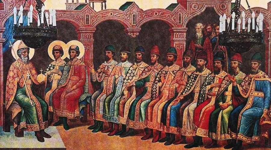 Князь Владимир с сыновьями