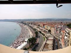 Promenade des Anglais (eatpraybake.hf) Tags: city travel summer france tourism beach landscape coast nice rooftops south des promenade franch anglais