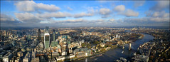 London panoramic view-  If you reblog the photo please leave a link to the original! Thanks!!! [2904x1056] (Katarina 2353) Tags: life from above birthday street city uk trip travel bridge november blue autumn windows light wallpaper vacation sky urban panorama cloud color reflection building london tower tourism water beautifu