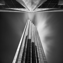 Withdrawal (Luke Austin) Tags: blackandwhite building skyline perth westernaustralia bankwest