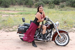 Jenny and the Deluxe (Firehand10k) Tags: sexy deluxe harley harleydavidson motorcycle wife filipina davidson softail