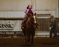 Bar None Jr Rodeo (Garagewerks) Tags: horse girl sport female youth bar turn cowboy all none sony barrel sigma indoor jr racing arena burn rodeo cans cowgirl athlete f28 equine 70200mm 2875mm views100 views200 slta77v slta65v