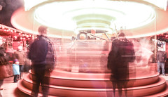 Weihnachts-Go-Round (JeevesWilliams) Tags: christmas longexposure light people blur speed germany market carousel weihnachtsmarkt merrygoround wolfsburg autostadt