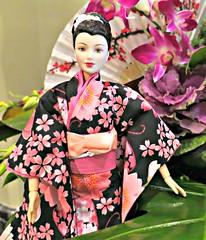 Japanese Garden6 (annesstuff) Tags: flowers japan garden japanesegarden doll barbie geisha kimono fashiondoll mattel dotw dollsoftheworld annesstuff