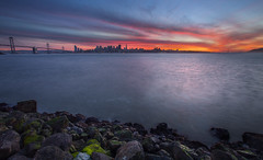 Fiery Sky (Mike_Valera) Tags: sanfrancisco sunset canon hdr 6d indurotripod induroct214