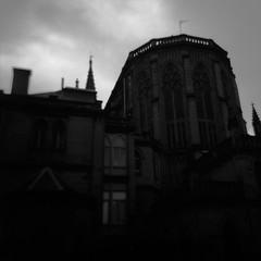 Transexual, Transylvania #3 (Josu Sein) Tags: mystery analog dark holga shadows surrealism religion gothic cathedrals expressionism donostia arquitecture christianism catholicsm lightsinthedark