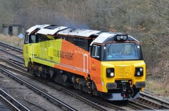 70801 (stavioni) Tags: train diesel rail railway farnborough colas 70801 class70