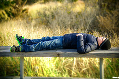 Taking A Break To Relax (Vitaliy973) Tags: boy bench children relax nikon break fireisland nikond7000 vision:mountain=0675 vision:outdoor=0878 vision:sky=073