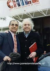 Con Claudio Di Girólamo, Jefe de la División de Cultura del Ministerio de Educación.