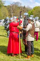 [2014-04-19@15.20.25a] (Untempered Photography) Tags: history costume helmet battle medieval weapon sword knight armour reenactment combatant chainmail watercarrier canonef50mmf14 perioddress polearm platearmour gambeson poleweapon mailarmour untemperedeye canoneos5dmkiii untemperedeyephotography glastonburymedievalfayre2014