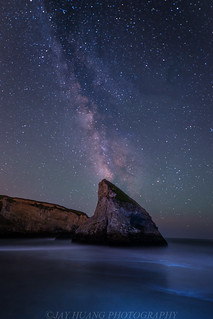 Milky Way Over Sharkfin Rock