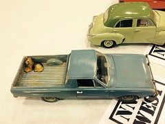 El Camino / Ranchero, Renault 4 (wbaiv) Tags: show west art car metal model automobile paint glue contest transport craft plastic passenger cloth scalemodel conveyance motorvehicle nnl
