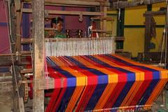 The Weaver (SamSpade...) Tags: old blue red orange industry craft textile age elsalvador colourful 560 4301 1403 woodframe ogp theweaver