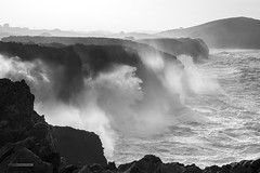 Linked By An Endless Thread (MANUELup) Tags: sea bw seascape spain power bn bnw cantabria usgo