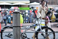 White bicycle. (taga928s4(Akira.T_JPN)) Tags: street bicycle tokyo photo shinjuku