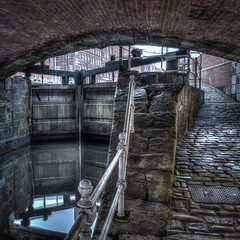Mon 9-Feb (40 / 365 / 2015) - Canal lock and bridge (Steev McAlister) Tags: uk greatbritain bridge manchester canal europe day britishisles unitedkingdom britain lock structures architectural event british 40 365 items dates edition lowkey hdr day40 2015 greatermanchester 40365 cameratechniques substructures day40365 365the2015edition 3652015 9feb15