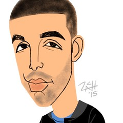 Daily Sketch/ Singer Drake... (Caricatures by Zach!) Tags: sanfrancisco party event entertainment caricature rapper swag keepsakes tradeshow caricatures ipad caricaturist livedigitalcaricature fingersketched