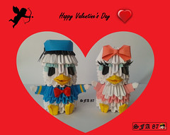 Donald and Daisy Origami 3d (Samuel Sfa87) Tags: paper 3d origami disney donald sfa daisy walt papercraft paperino paperina origami3d sfaorigami sfa87