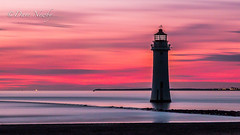 New Brighton Lighthouse, perch Rock (davenewby123) Tags: lighthouse new brighton purge rock seascape breaking waves newbrightonlighthouse perchrock newbrighton bigwaves strongwinds merseyside rivermersey unitedkingdom uk canoneos6d big sunset sunrise strongwinsbigwaves davidnewby