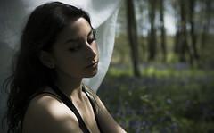 Mild Spring (hailwi-dis) Tags: light sun fleurs soleil veil autoportrait outdoor lumire femme voile printemps fort modle drap exterieur