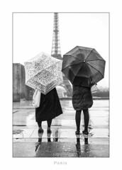 Paris n62 Rain or shine (Nico Geerlings) Tags: paris france 50mm eiffeltower eiffel toureiffel trocadero summilux champsdemars parijs palaisdechaillot eiffeltoren nicogeerlings leicammonochrom ngimages nicogeerlingsphotography