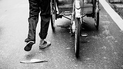 Walking Home (Gigin - NoDigital) Tags: road street people man feet bicycle walking asia body parts objects vietnam transportation geography activity hanoi bodyparts