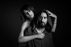 Tentation (aminefassi) Tags: portrait people blackandwhite bw man fashion studio couple morocco maroc onelight  strobist aminefassi