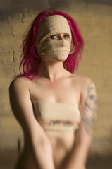 52 Week Challenge - Week 21 (Richard Amor Allan) Tags: eyes zombie wrapped naturallight eerie tattoos creepy fantasy bound pinkhair bandage bandages bandaged dogwood52