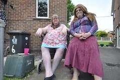Old bags left by the bins. (yvonnematthews258) Tags: gay tv cd fat tgirl sissy cuddly transvestite crossdresser tgurl