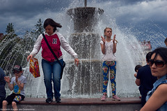 Jump |  (constantiner) Tags: street city girls people urban fountain 35mm spring movement asia pentax cloudy outdoor candid strangers streetphotography sigma overcast siberia streetphoto urbanism  tomsk        peoplephotography  whitegirls europeangirls    tomskayaoblast    sigmaart pentaxk3 sigmaart35mm  spring2016