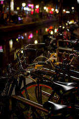 Bikes & Lights (BribbroPhoto) Tags: amsterdam bike bicycle night canal bici nl notte canale noordholland bicicletta paesibassi canoneos6d tamronspaf70200mmf28diif