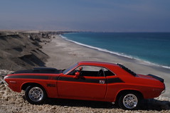 Dodge Challenger T/A 1970 six pak diecast 1:24 made by Welly (Ricardo Gaete Quezada) Tags: beach playa 124 dodge welly challenger rinconada antofagasta diecast miniaturas