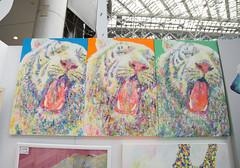 Tiger Art (Design Festa) Tags: art japan illustration painting japanese tokyo artwork tiger whitetiger tokyobigsight artevent artfestival japaneseartfestival