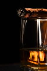 Luxury still life (noor.khan.alam) Tags: life black glass vertical closeup price dark studio high drink background smoke text rich beverage lifestyle style whiskey cigar rwanda liquor alcohol precious booze whisky rum brandy copyspace expensive copy luxury lux extra brandywine valuable spaxe