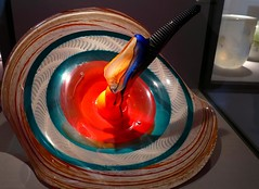Maestro del vidrio (Museo La Granja) (alfonsocarlospalencia) Tags: real la arte colores segovia museo maestro cristal texturas belleza vidrio reflejos artista paleta granja cristales fbrica crculos soplado estras