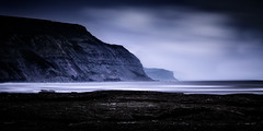 North Yorkshire coast near Staithes (EosKid) Tags: ocean longexposure blue light sea sky seascape storm cold colour water weather clouds canon landscape coast seaside cool rocks waves yorkshire dramatic atmosphere stormy cliffs coastal northeast canoneos7d peterfenech fenechimages