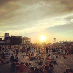 Sunset while waiting on Florence and the Machine. #sexy #hot #sweet #sunset #hangout #festival #beautiful #sky (anthony.long2006) Tags: square squareformat rise iphoneography instagramapp uploaded:by=instagram