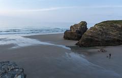 David vs Goliat (CeliaQuintillan) Tags: ocean sea seascape beach water landscape sand rocks galicia lugo ribadeo playacatedrales