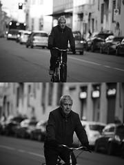 [La Mia Citt][Pedala] (Urca) Tags: portrait blackandwhite bw bike bicycle italia milano bn ciclista biancoenero mir bicicletta 2016 pedalare dittico nikondigitale ritrattostradale 85581