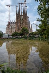 Sagrada Famlia (RaminN) Tags: barcelona reflection church catholic roman artnouveau sagradafamlia antonigaudi nativityfacade