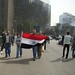 Protester Carrying Egyptian Flag