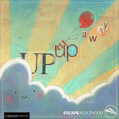 Up Up and Away (Kim & Jason) Tags: art clouds painting balloons happy whimsy balloon float sinshine easummit2016