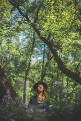 Marie-ve (Louis Chiasson) Tags: canon 5d 50mm f18 portrait outdoor forest wood marieve chapeau hat gilrl women paulcbuff paul buff einstein e640 strobist selens octobox octabox 120cm fleur flower