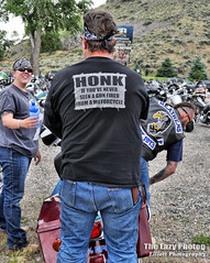 June 11 2016 - Honk if you've never seen a gun fired from a motorcycle (lazy_photog) Tags: charity club honda photography indian cancer motorcycles run harley poker lazy bmw yamaha supper wyoming cody davidson elliott cassies photog worland 061116codycancerpokerrun
