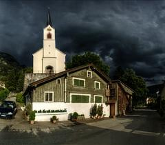 Thunder (Elliott Bignell) Tags: house storm tower church clouds schweiz switzerland dorf village suisse kirche wolken haus ostschweiz chapel steeple spire svizzera rheintal turm kapelle rhinevalley sturm flums walenstadt berschis