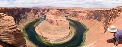 Peering over the edge (Stephen T Slater) Tags: camera arizona usa us unitedstates unitedstatesofamerica explore edge page coloradoriver gorge sunhat horseshoebend